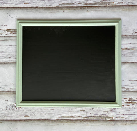 Medium Sensible Sage framed chalkboard