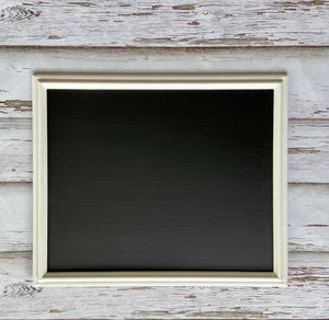 Medium white framed chalkboard
