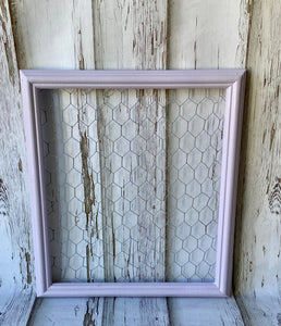 Lavender Chicken Wire Frame