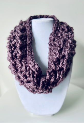 Purple Mega Bulky Cowl