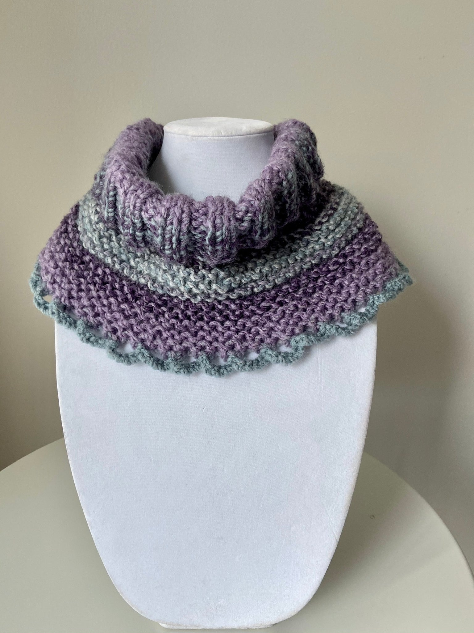 Purple Turtle Neck Cowl