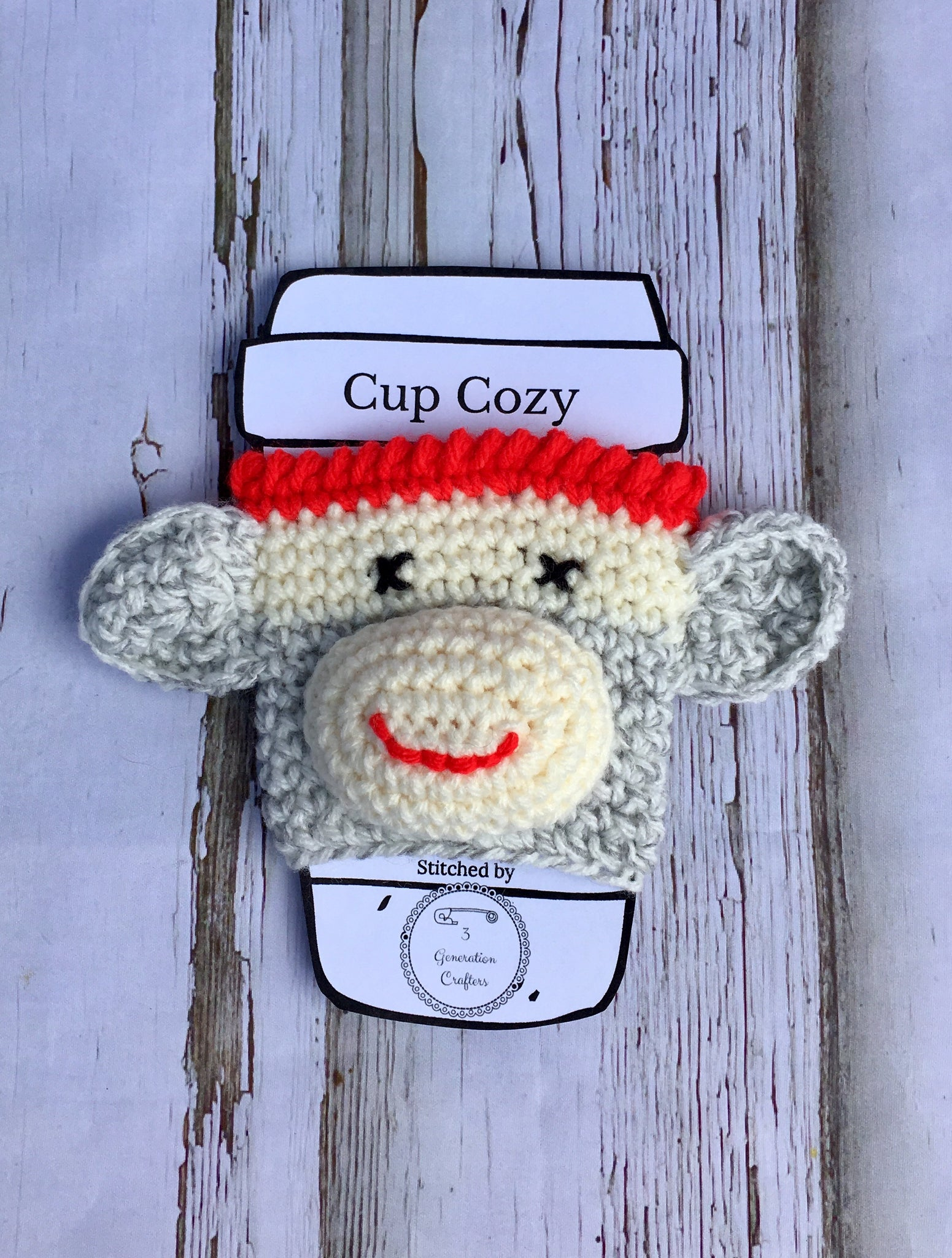 Sock Monkey Cup Cozy