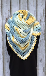 Jordan Almond Honey Bird Shawl