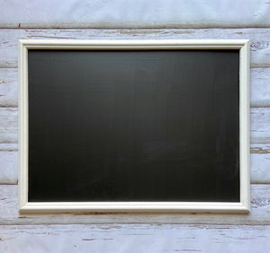 Large White framed chalkboard