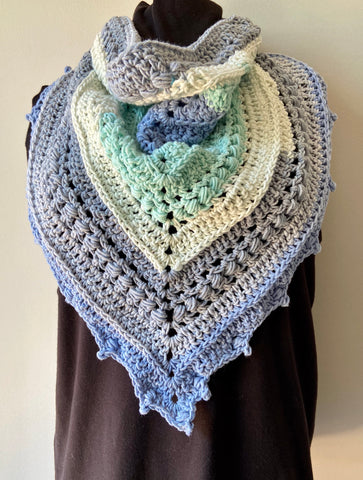 Hydrangea Bandana Cowl option 2