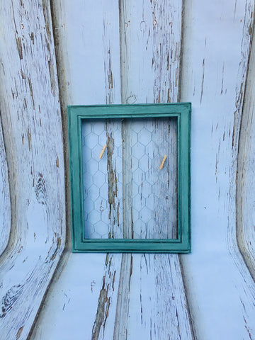 Larger Patina Chicken Wire Frame