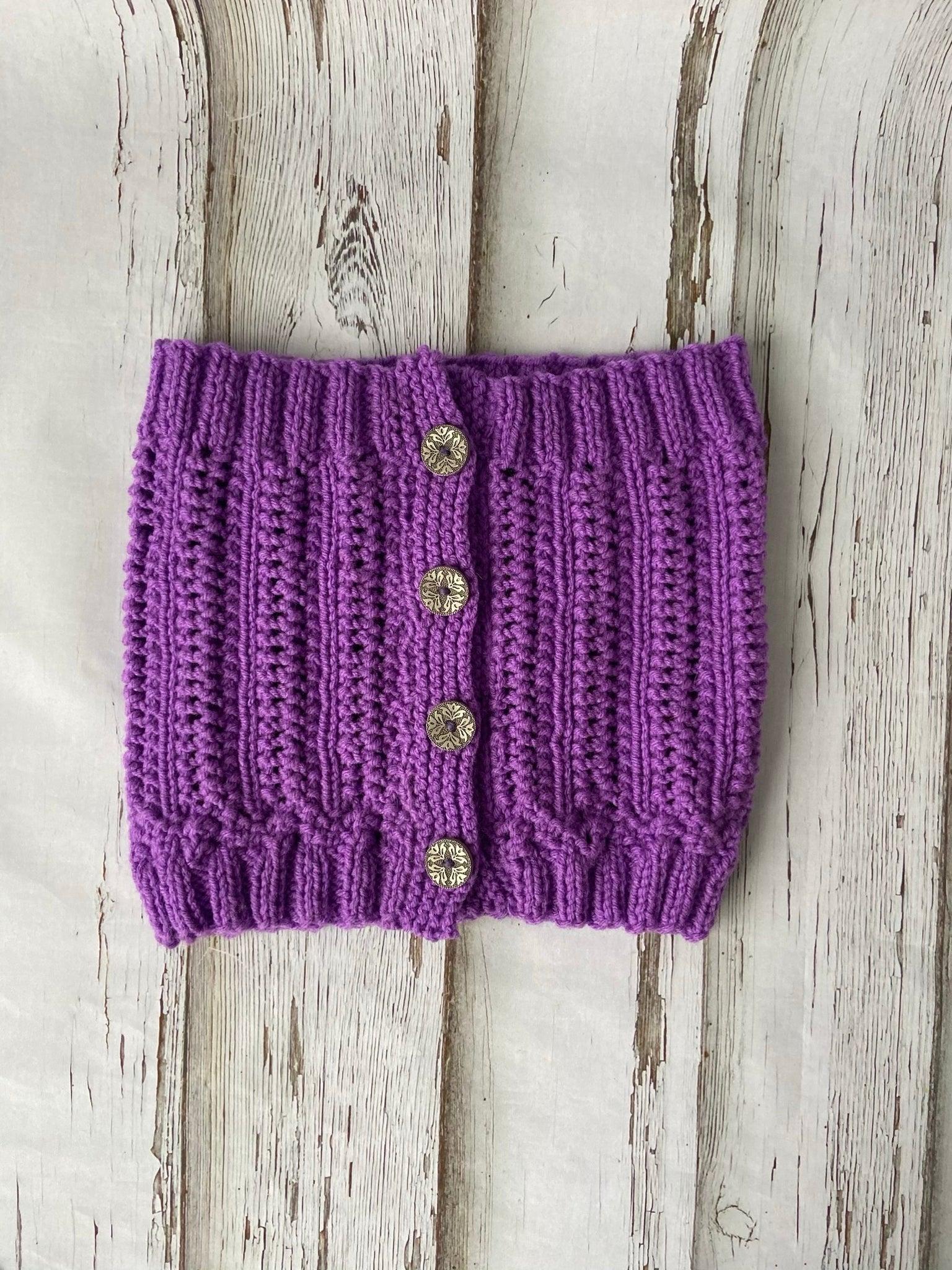 Purple Button Cowl