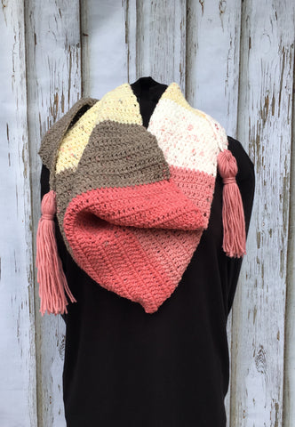 Cake Pop Kerchief Scarf with Tassels