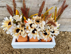 Orange fall centrepiece