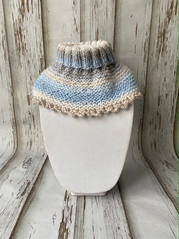 Blue Turtle Neck Cowl