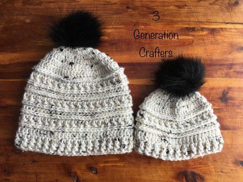Mountain Ridge Pompom Hat