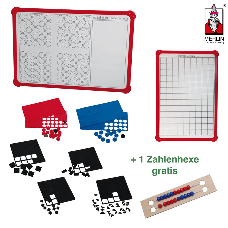 Square Board + Zahlenhexe (Aktion) Lernmaterial MERLIN Didakt