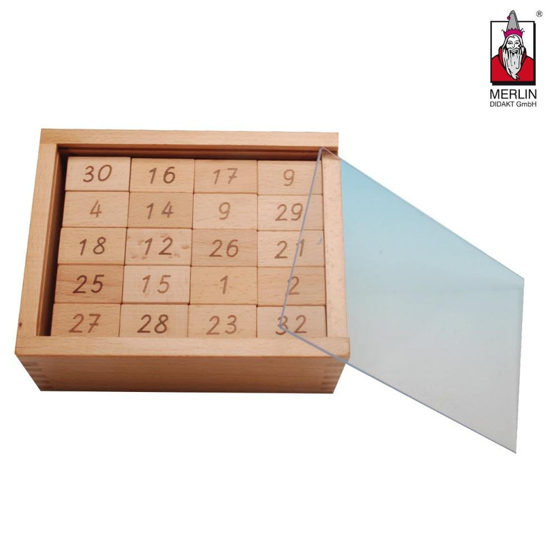Zahlenmauer in Holzbox Lernmaterial Forchtenberger Puzzle & Spiele
