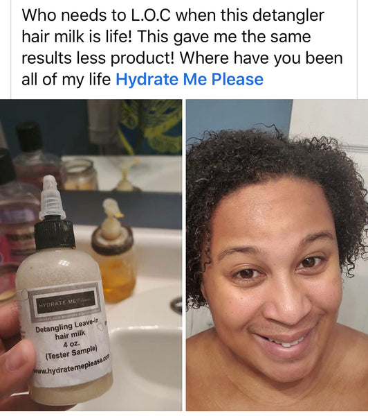 Hydrate Me Please! Leave-in Detangling hair milk