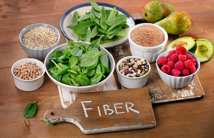 fruits and greens rich in fiber