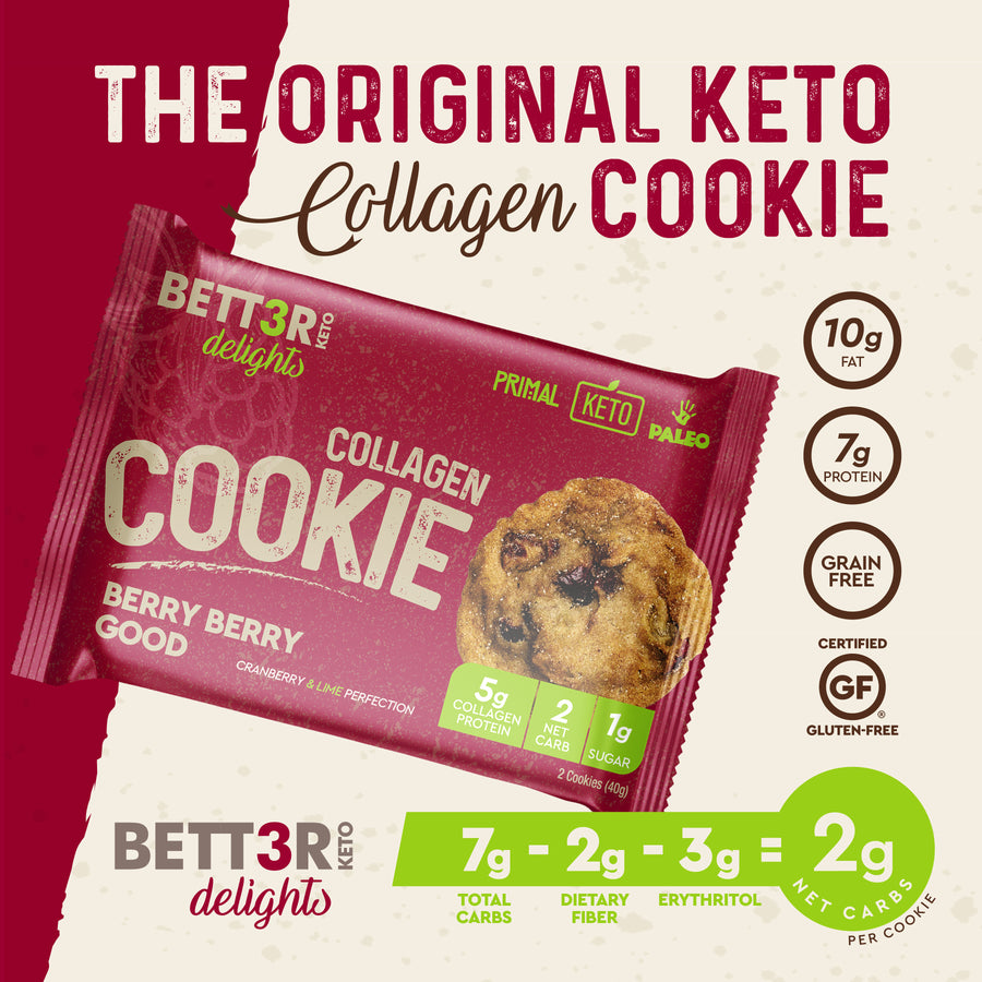 Cranberry & Lime Keto Cookies - Berry Berry Good