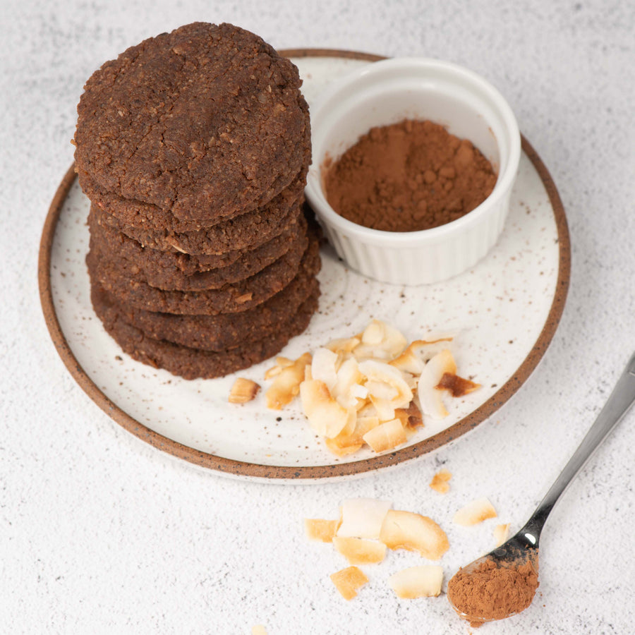 Dark Chocolate Coconut Keto Cookies - Choco Coco