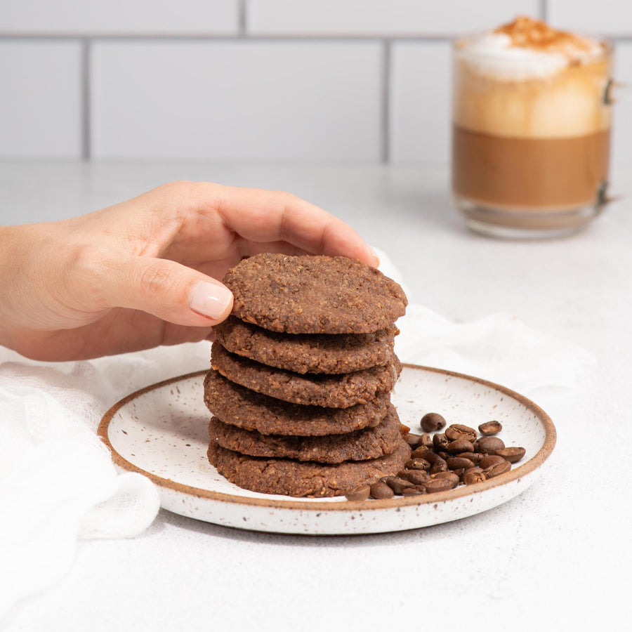 Mochaccino Coffee Keto Cookies - A Latte Yumminess