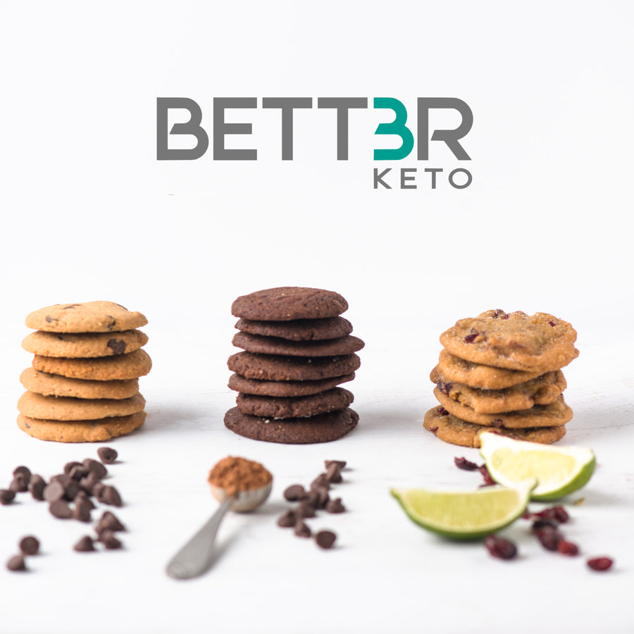 Keto Cookies Sampler Pack - Original Flavors (18 Cookies) - Keto Diet Done Better