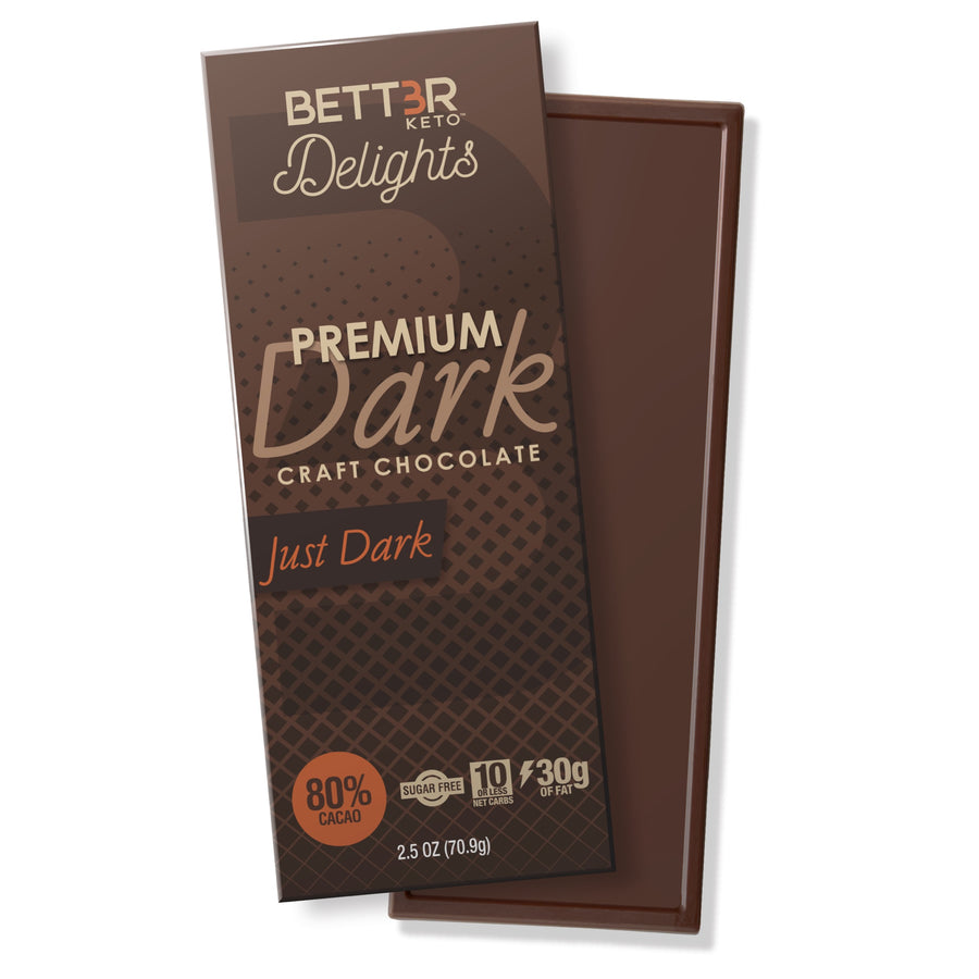 Premium Keto Dark Chocolate Bar 80% Cacao - Original - Keto Diet Done Better