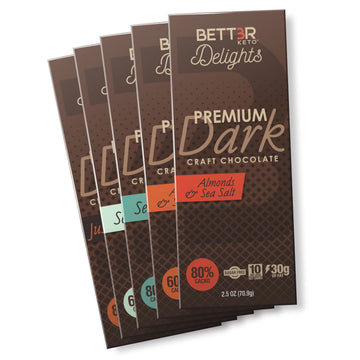 Premium Keto Dark Chocolate Bar Sampler Pack - Keto Diet Done Better