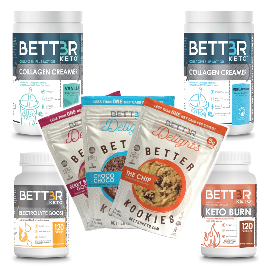 SPECIAL SALE: Keto Starter Pack + FREE Keto Cookies Sampler - Keto Diet Done Better