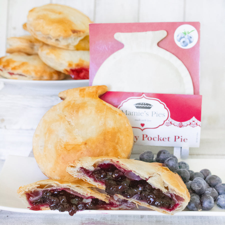 Wild Maine Blueberry Pocket Pies | 12 Pack