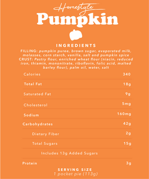 Pumpkin Pocket Pies | 12 Pack