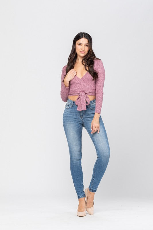Pin Tacked Skinny Plus Jeans