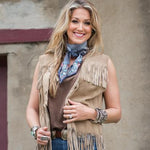 Fringe Scarves Denim Pawn