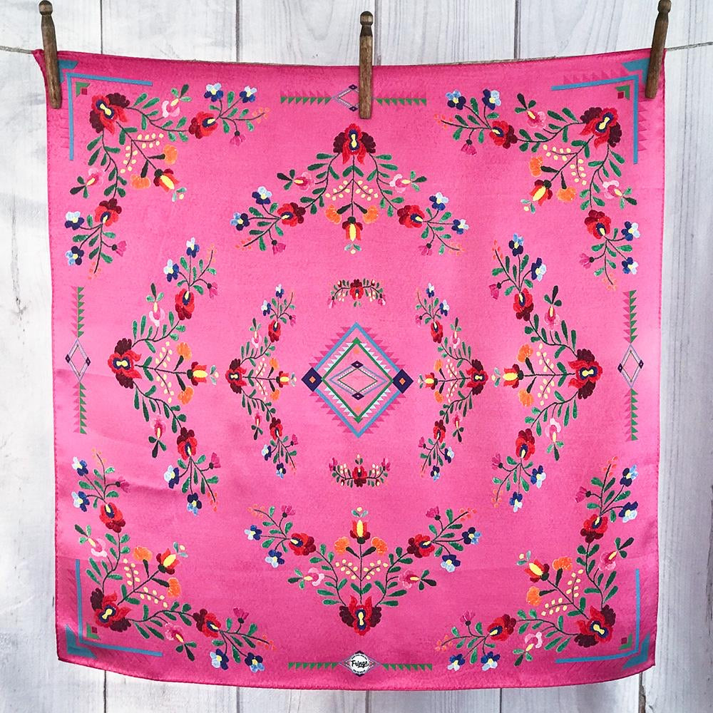 Fringe Scarves - The Hot Pink Fiesta Shorty