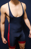 Gym Muscle Singlet Navy Blue