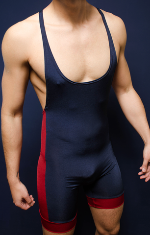 Gym Muscle Singlet Navy Blue - 4 Hunks