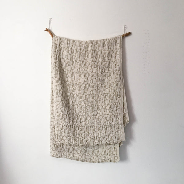 handmade double sided linen throw pebble or floral pattern