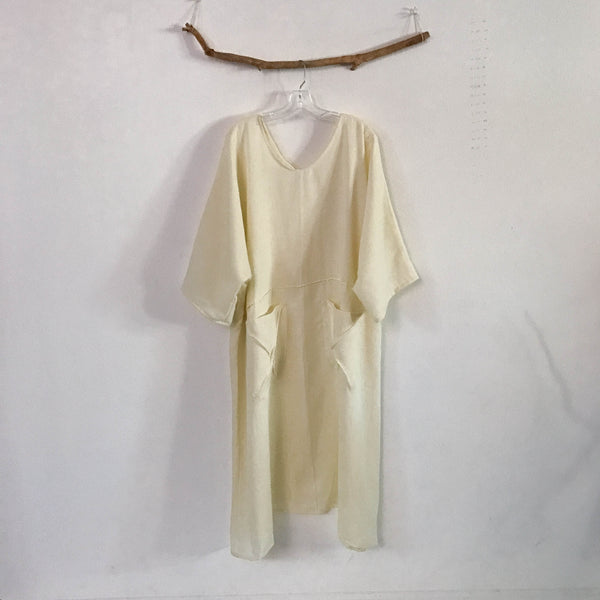 summer weight linen running with lines dress made to order listing - linen clothing by anny