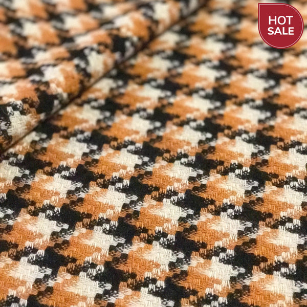 houndstooth wool poncho ready wear