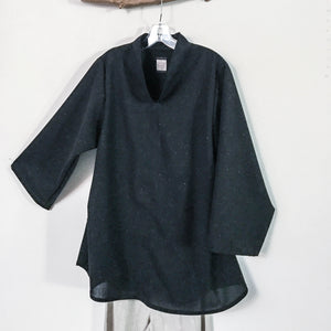 Custom wool Asian blouse with four wool fabric available