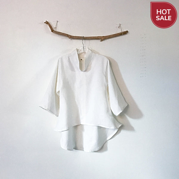 white linen blouse for wedding