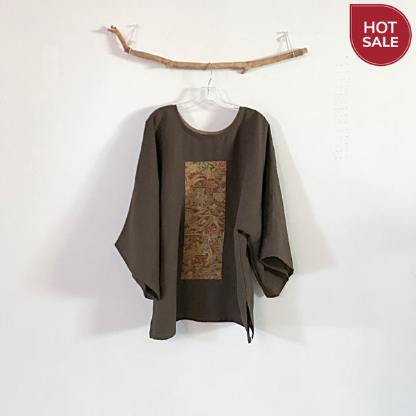 handmade one of the kind linen kimono top