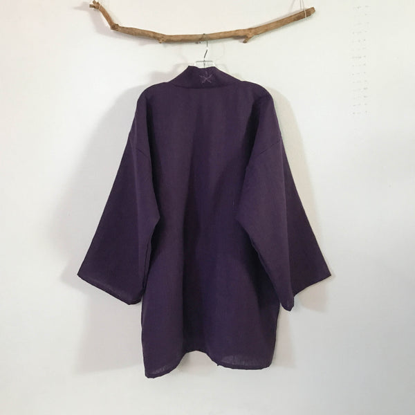 custom heavy linen haori jacket - linen clothing by anny