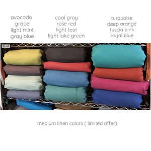 Special linen color swatch - linen clothing by anny