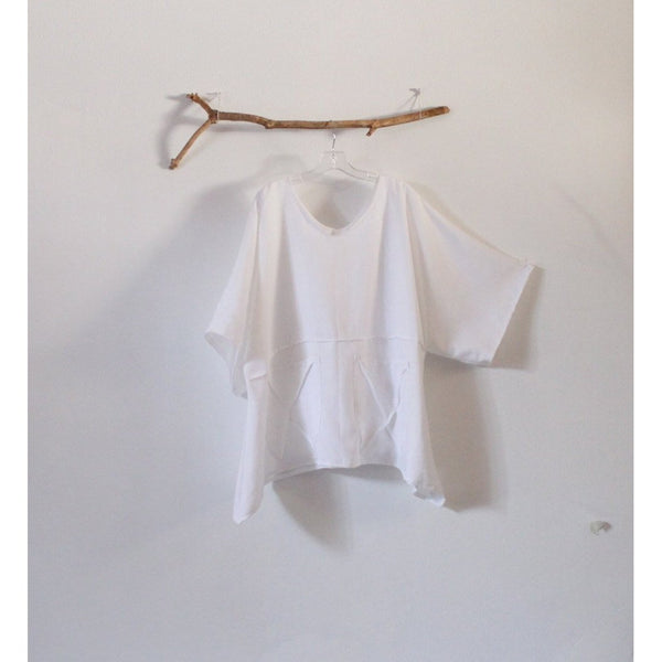 custom white linen top and pebble linen pants - linen clothing by anny