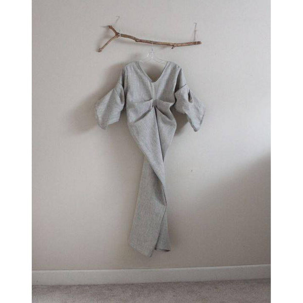 custom bottle shape fold linen dress - linen clothing by anny