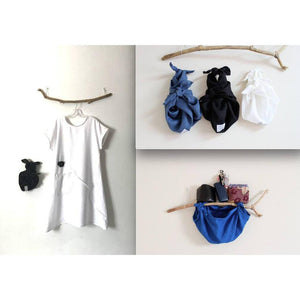 Three eco friendly linen furoshiki wristlets