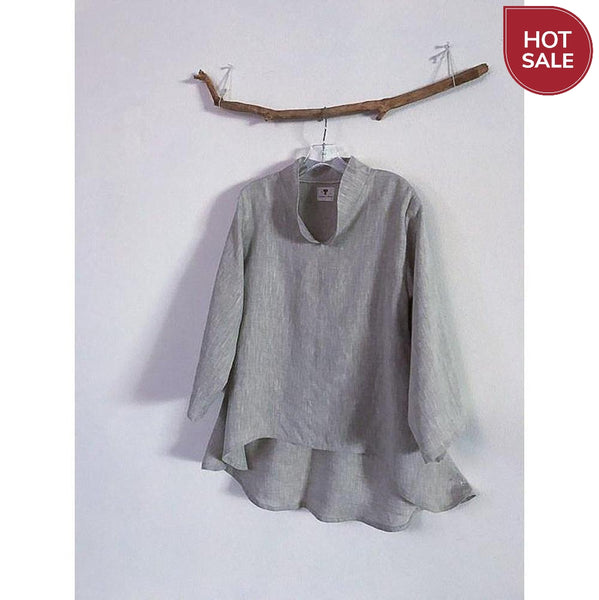 pebble linen blouse size M ready to wear-blouse-linen clothing by anny