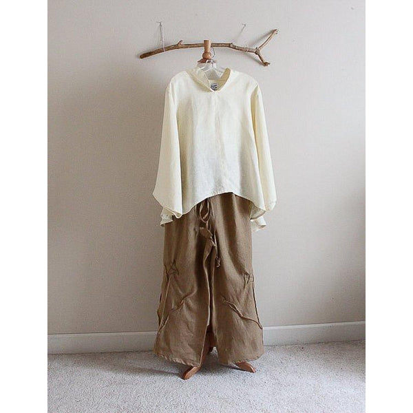 linen outfit blouse and pants custom listing - linen clothing by anny