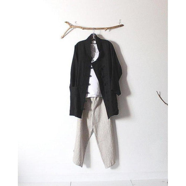 custom linen outfit tank top jacket pants - linen clothing by anny