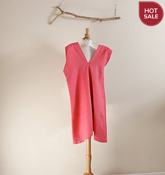 size S or  M pink linen sparrow tunic ready to wear