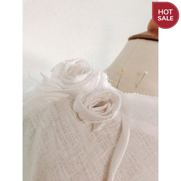 white linen poncho free size ready to wear - linen clothing by anny