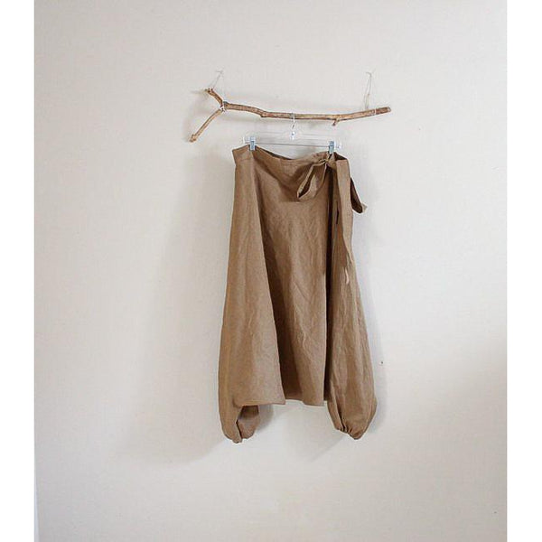 custom linen flying squirrel dropped crotch pants